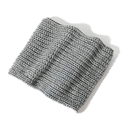 accsa - Bufanda de lana gruesa para mujer, suave, cálida, forro polar, color gris