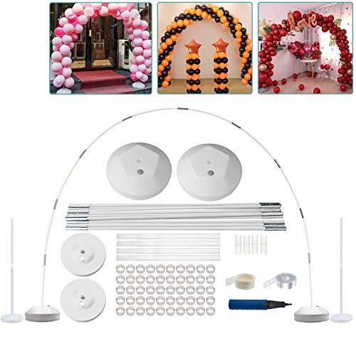 H&ZT - Kit de arco de globo, soporte de columna de globo para decoraciones de cumpleaños, planificación de eventos, suministros de fiesta de boda, decoraciones de jardín