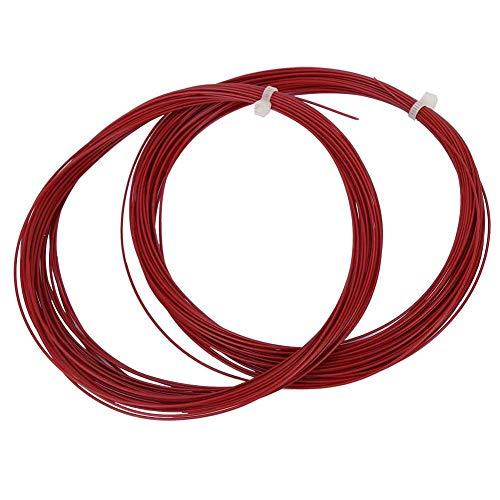 Keen so Badminton-Saiten, 10 m, hohe Flexibilität, Badminton-Saitenschnur, Trainingsschläger, Schlägerlinien, Badminton-Reparaturzubehör (rot), 2 Stück