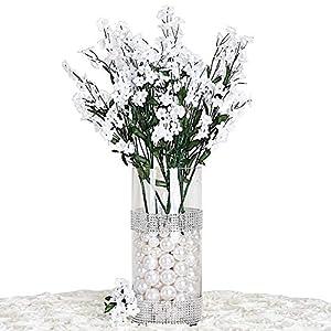 Silk Flower Arrangements BalsaCircle 32 White Silk Baby Breath Artificial Flowers - 12 Bushes - Wedding Party Centerpieces Arrangements Bouquets Supplies