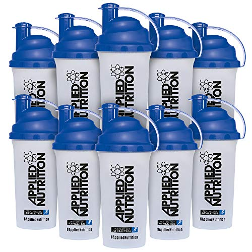 Applied Nutrition Bundle Protein Shaker Bottle, Sports Drink, Non Leak Cap - 700ml x 10 Units