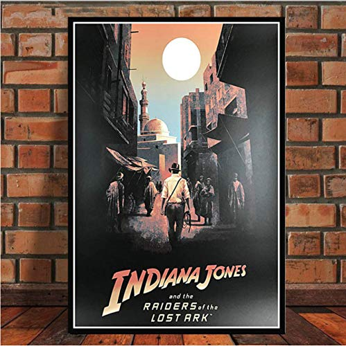yhnjikl Poster and Prints Indiana Jones Classic Movie Film Vintage Art Painting Canvas Wall Pictures For Living Room Home Decor 40x60cm Sin Marco