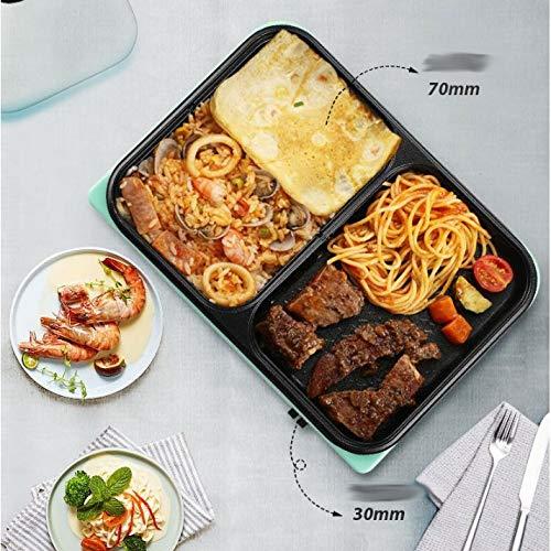 51ZHxMcxgKL. SL500  - SKREOJF Multifunktionale Korean Rauchfreie Schlaf, gegrilltes Hot Pot, Barbecue, EIN Topf, Haushaltselektrogrill, Backautomaten