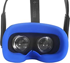 Esimen VR Face Silicone Mask Pad & Face Cover for Oculus Quest Face Cushion Cover Sweatproof (Blue)