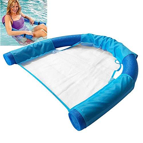 Waterzitje, drijvende stoel, drijvende pastastoel voor flexibele, draagbare zwembaden met U-zitje van watervlechtwerk (Blauw)