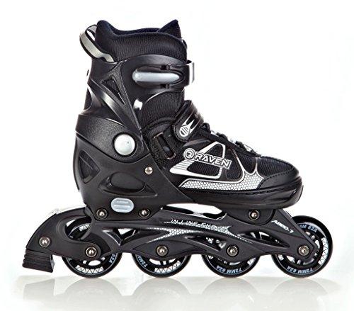 RAVEN Inline Skates Inliner Spirit Black/White verstellbar Größe: 37-40 (23,5cm-26cm)