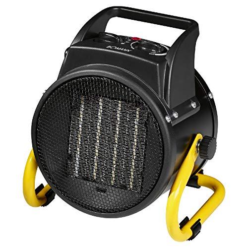 Keramische ventilatorkachel, camping, elektrische verwarming en ventilator, tafelventilator, vloerventilator (verwarming, sterke 2000 watt, verwarming, 3 standen, draaggreep)