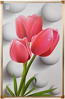 Radiador eléctrico MAHZONG Placa de calefacción Muro de Cristal de Pared 500 W Colgante de Pared Mural Calentador Interior 100 cm * 60 cm