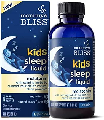 Mommy s Bliss Kids Sleep Liquid with Melatonin and Calming Herbs Ages 3 to Adults Natural Grape product image