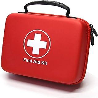 SHBC Kit Compacto de Primeros Auxilios (228 Piezas) Diseñado para Cuidados Familiares de Emergencia. Carcasa de EVA a Prueba de Agua. Esta Bolsa es Ideal para el Coche, Barco, Camping, Oficina.
