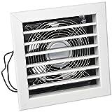 La ventilación gcmib1818120-y gcmib1818120Rejilla Para chimeneas con elettroventola, aluminio lacado 180x 180mm, blanco