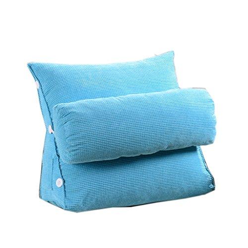 KDBZ Coussin de canapé triangle moderne Design ergonomique avec coussin de tête amovible Coussin de chevet Coussin de chaise à lèvres à lame de couleur pure 65 * 65cm Coussin (Couleur : E)
