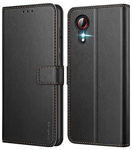 Ganbary Handyhülle für Samsung Galaxy Xcover 5 Hülle, Premium Leder Tasche Flipcase [Kartenschlitzen] [Magnetverschluss] [Standfunktion] kompatibel mit Samsung Galaxy Xcover 5 Schutzhülle, Schwarz