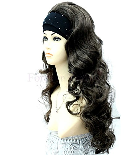 Forever Young X-Long Dark Brown Number 4 Ladies Curly Style Half Wig by Forever Young