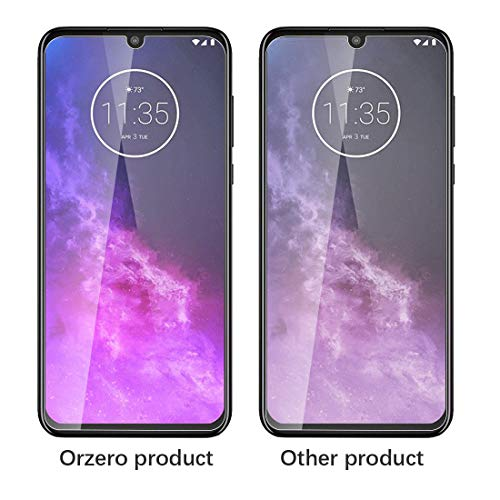 (3 Pack) Orzero Compatible for Motorola One Zoom Tempered Glass Screen Protector, 9 Hardness HD Anti-Scratch Bubble-Free (Lifetime Replacement)
