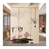 WENZHE Estores Bambú Venecianas Persiana Enrollables, Respetuoso Medio Ambiente Anti-UV Dividir Intimidad Pantalla, Usado para Villa Albergue Pabellón Salón, 2 Estilos