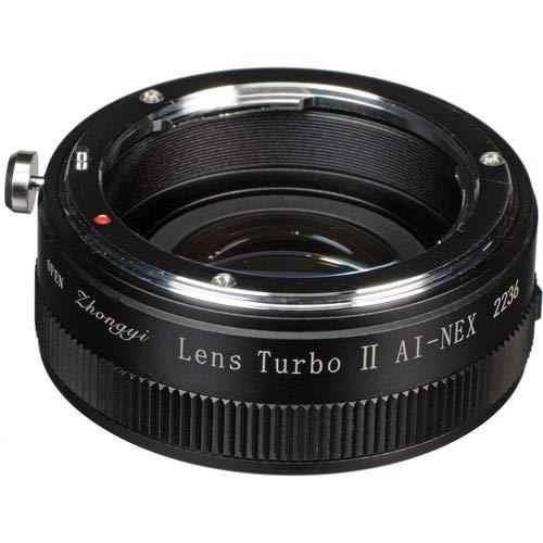 Zhongyi AI-NEX Lens Turbo Adapter II Mark 2 Ersatz von Nikon AI Mount  NEX Kamera (schwarz)