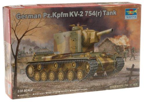 Trumpeter 00367 Modellbausatz German Pz.Kpfwg. KV-2 754