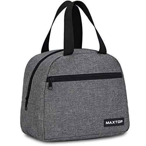 MAXTOP Bolsa de almuerzo aislada bolsa termica porta alimentos con bolsillo frontal y bolsa interior de malla bolsa más fresca, regalos para adultos, mujeres hombres trabajo universidad picnic
