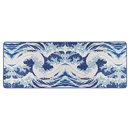 Large Mouse Pad 11.8x31 inch Non-Slip Rubber Long Gaming Mouse Mat,Desk Pad Keyboard Mat,Ocean Wave