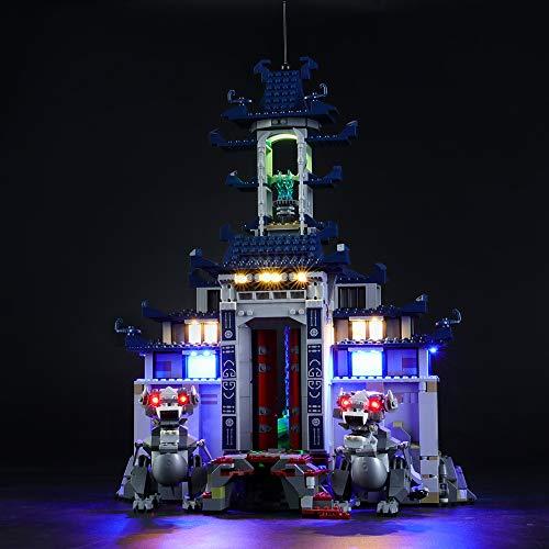 LODIY Beleuchtung Licht LED Light Beleuchtungsset für Lego 70617 Ninjago Ultimativ Ultimatives Tempel-Versteck , Beleuchtung Set (Nur Licht, Nicht Enthalten Lego Modell)