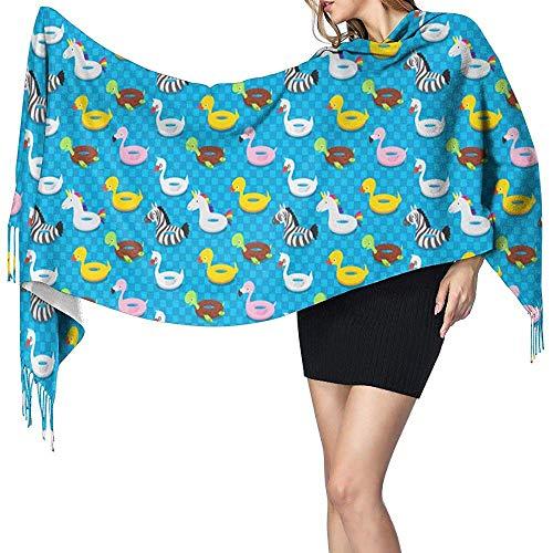 An Green Weiche künstliche Kaschmir-Quaste Pashmina-Schal-aufblasbarer Tiergummi-Swimmingpool-Schal-Verpackungs-Schal für Frauen und Mädchen
