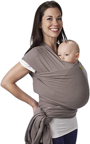 Porte-bébé Boba Wrap, Grey, Echarpe porte-bébé extensible originale, parfait pour les nouveau-nés et les enfants jusq...