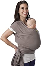 Boba Wrap Baby Carrier, Grey – Original Stretchy Infant Sling, Perfect for Newborn..