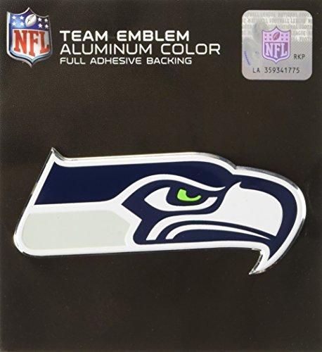 FANMATS Team ProMark Seattle Seahawks Heavy Duty Aluminum Color Emblem, Medium (60471), Team Color