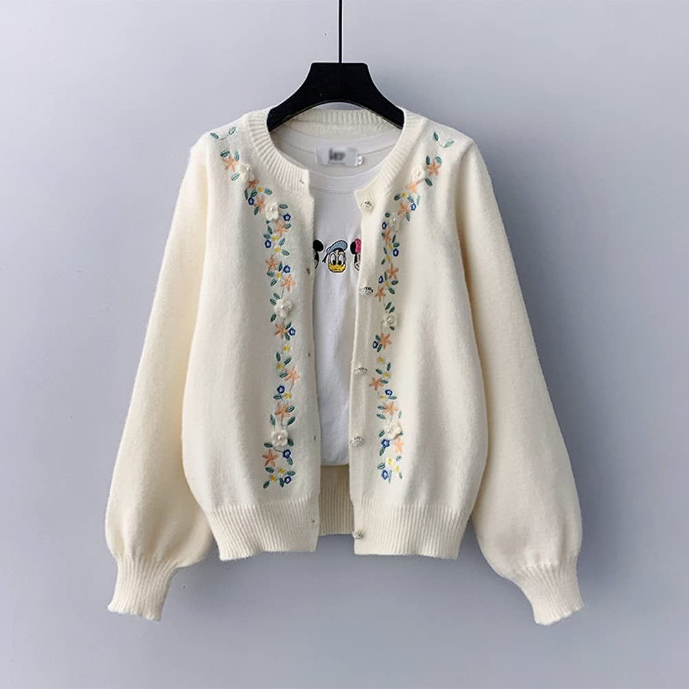 JJZXC Manual Flower Embroidery Cardigan Single Soldering Br Sweater Free Shipping Cheap Bargain Gift Womens
