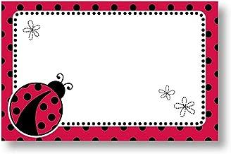 Ladybug Polka Dots Spring Enclosure Cards 50 Pack- Gift Supplies
