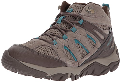 Merrell Women's Outmost Mid Vent Waterproof Hiking Boot, Boulder, 6 M US