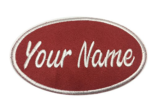 IRON ON NAME PATCH BLUE ON WHITE TAYLOR  NEW EMBROIDERED  SEW