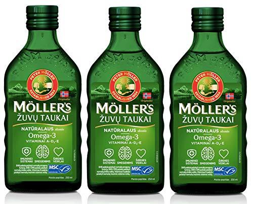 Moller Omega 3 Aceite de Hígado Suplemento dietético nórdico con EPA, DHA,...
