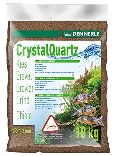 Dennerle Aquarienkies Dunkelbraun 10 kg - Bodengrund für Aquarien - Körnung 1-2 mm