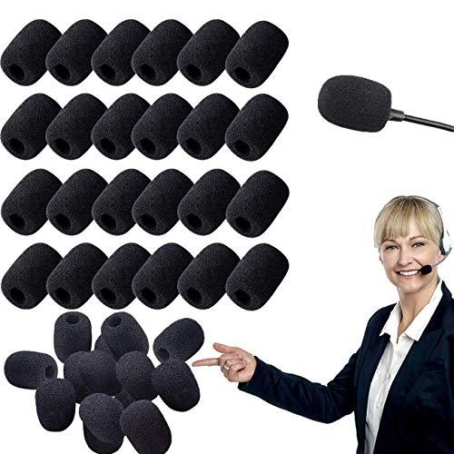 50 Piezas Esponja Microfono,Cubiertas de Micrófono,Cubiertas de Micrófono de Espuma,Esponja Microfono Pequeño para Aula,Sala Conferencias(Mini Tamaño)