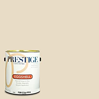 PRESTIGE P300-P-SW6119 Interior Paint and Primer in One, 1-Gallon, Eggshell, Comparable Match of Sherwin Williams Antique White, 1 Gallon, SW119-Antique