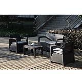 ガーデンソファー ラタン調 屋外 ガーデンテーブルセット ガーデンチェアー 4点セット ガーデンファニチャーラタン調 四人掛け 耐荷重150kg ねじなし 高級ソファー 簡単な組み立て おしゃれ家具