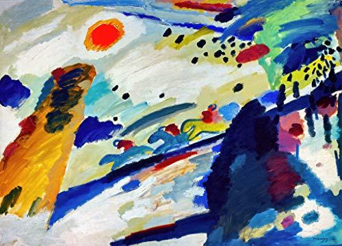 Kunst für Alle Impresión artística/Póster: Wassily Kandinsky Romantische Landschaft - Impresión, Foto, póster artístico, 85x60 cm