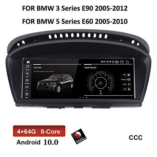 XISEDO Android 9.0 Autoradio 8.8 Zoll Bildschirm RAM 4-Core 2G ROM 32G Radio mit GPS Navigation Android Radio für BMW 3 Series E90 (2005-2008)/ BMW 5 Series E60 (2005-2008) Ursprüngliches CCC System
