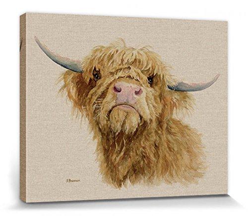 1art1 Rinder - Donald, Jane Bannon Bilder Leinwand-Bild Auf Keilrahmen | XXL-Wandbild Poster Kunstdruck Als Leinwandbild 50 x 40 cm