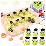 Diamonddeal Fruit Vegetable Cutter Shapes Set, Mini Pie, Fruit and Cookie Stamps Mold, Cookie Cutter Decorative Food, for Kids Baking and Food Supplement Tools Accessories Crafts for Christmas, Green