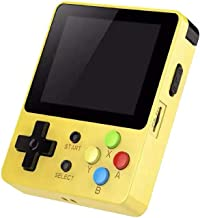Basde Handheld Game Console Kids Adults, LDK Game Screen by 2.6 Thumbs Mini Palm Palm Pilot Nostalgia Console Children Retro Console of Dioco Mini Family TV Video (Yellow)