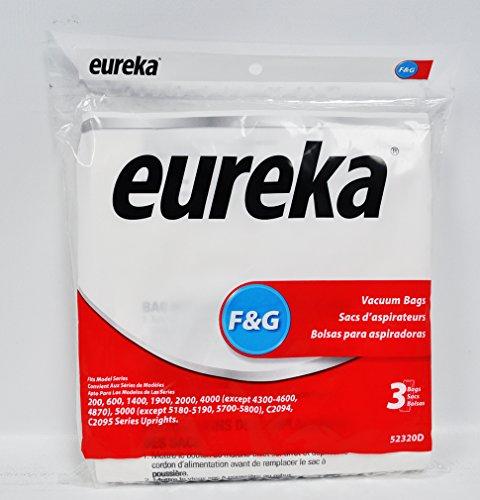 Eureka Upright Vacuum Bags Style F Fits Eureka Pack / 3