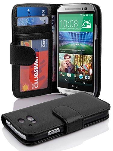 Cadorabo Funda Libro para HTC One M8 (2. Gen.) en Negro ÓXIDO - Cubierta Proteccíon con Cierre Magnético e 3 Tarjeteros - Etui Case Cover Carcasa