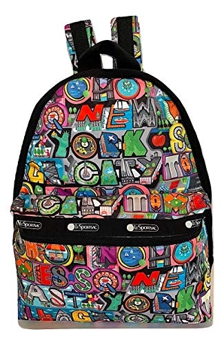 LeSportsac NYC - New York City, Exclusive Basic Backpack/Rucksack, Style 7812/Color K148