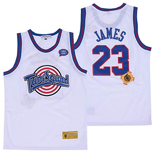 XXJJ James Space Jam - Camiseta de baloncesto retro de los años 90, con ventilador, color blanco