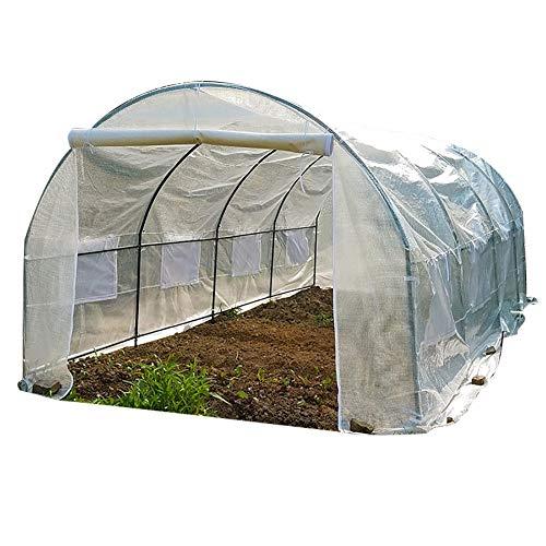 Serres Walk in Tente À Effet de Serre avec Cadre, Grand PVC Blanc Couverture Jardin avec Maison de Culture Roll-Up Zipper Porte et Fenêtres, Isolation (Size : 3×2×1.75m)