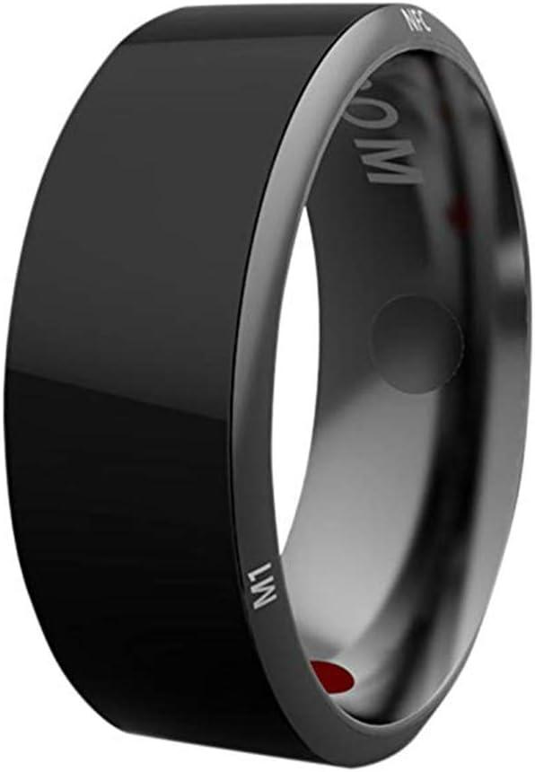 JXFS NFC Smart Ring, Intelligent Multifunction Waterproof Magic Smart Ring Universal Wear Finger Ring Women Men Ring for Android Windows NFC Mobile Phones-10#