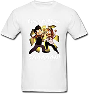Kingdiny Men's Prank Vs Prank SAAAN T Shirt